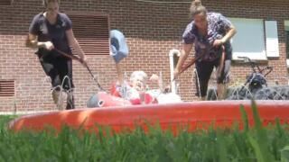 Kansas Seniors on Slip and Slide