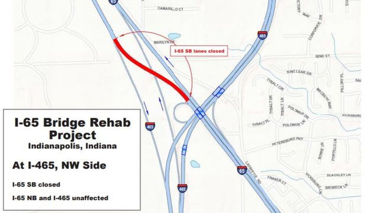 Portions of I-65 in downtown Indy will be closed from July - August on