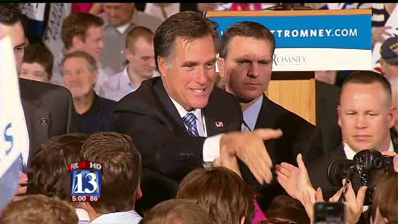 Romney in Utah for fundraising events