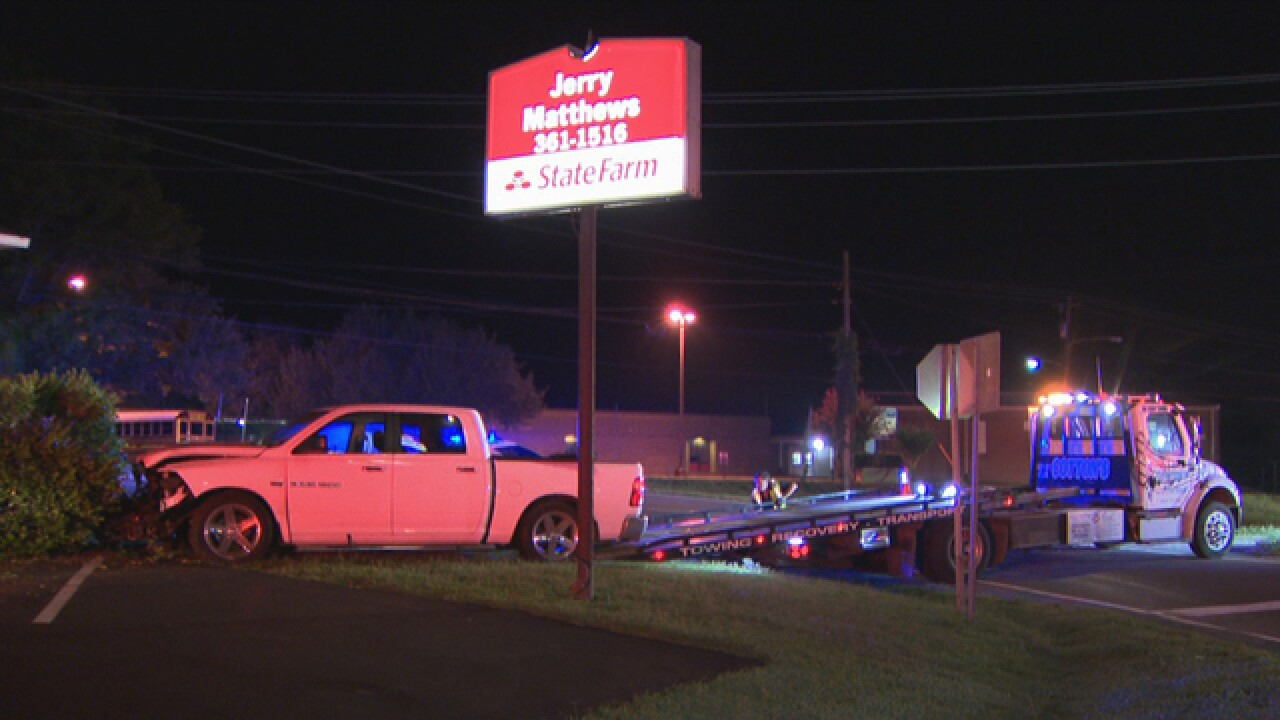2 Hurt After Truck Crashes Into Nashville Business