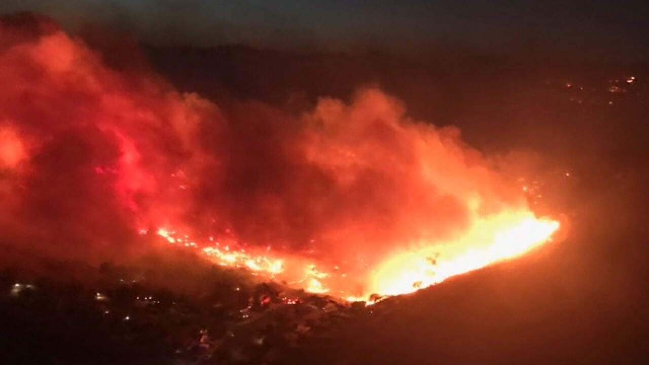 70 Kern County firefighters battling wildfires in Ventura County and Butte County
