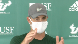 photo-by-kevin-lewis-usf-head-football-coach-Jeff Scott-sept2