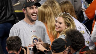 Justin Verlander and his wife, Kate Upton