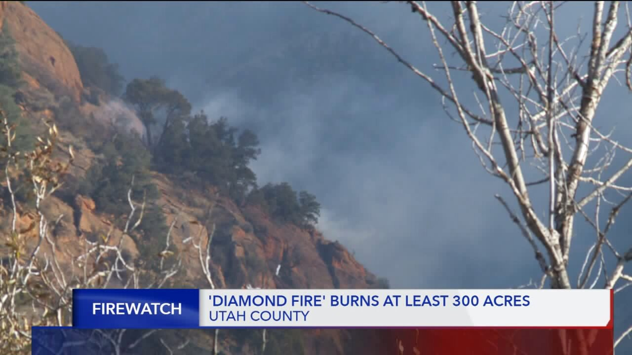 Fire burning in Diamond Fork Canyon; Utah County Search and Rescue evacuate around 50 hunters and cabin owners