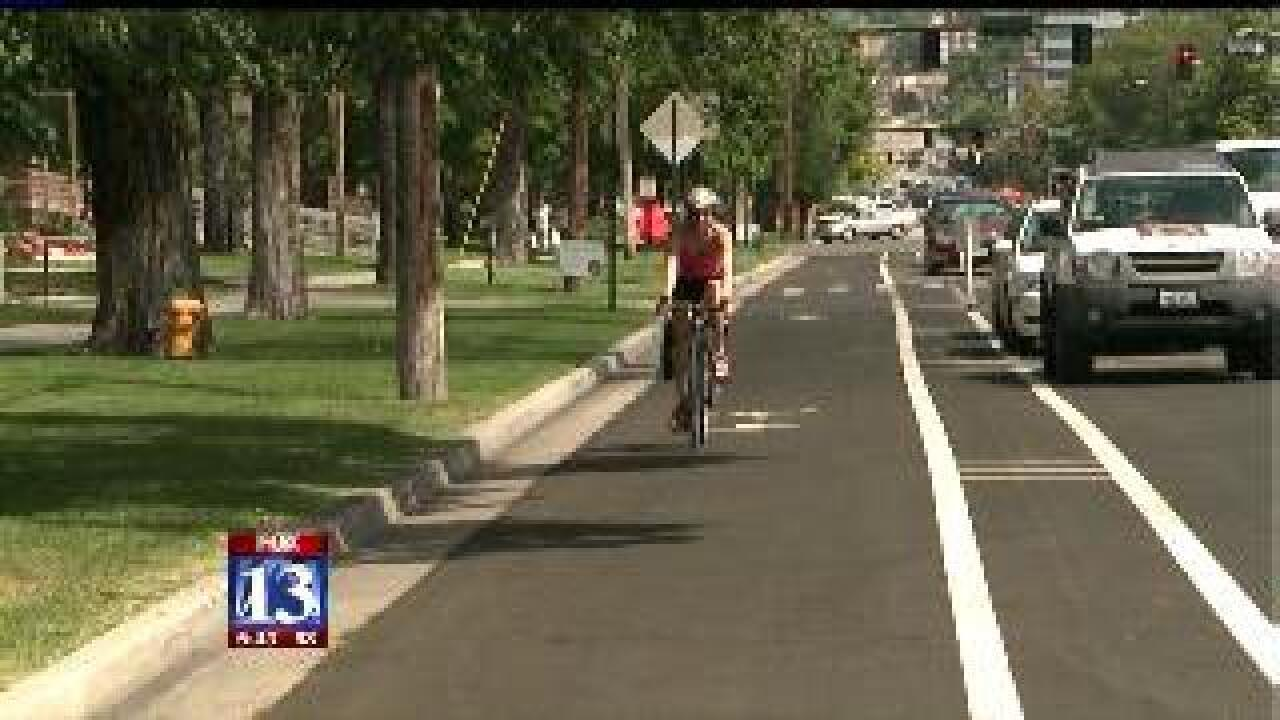 New cycle track opens in downtown SLC