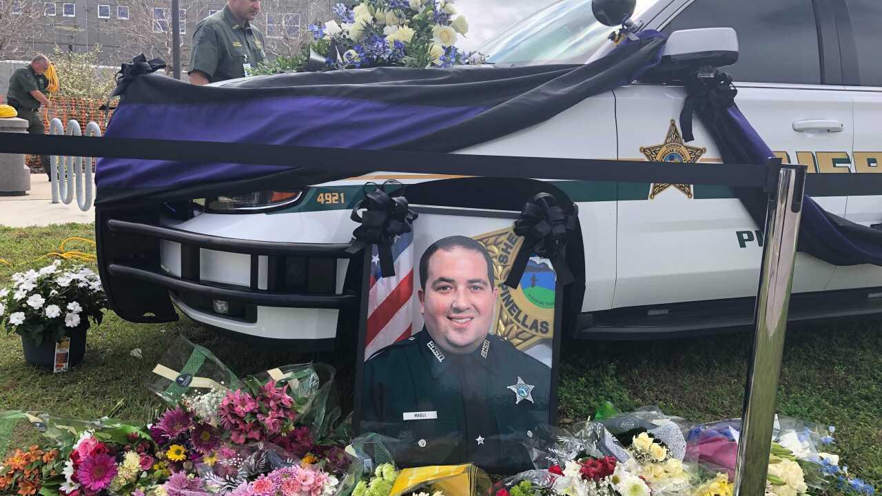 Memorial for fallen deputy 2-18-21