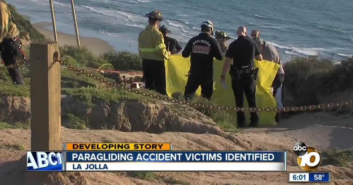 Victims in deadly paragliding accident at Torrey Pines