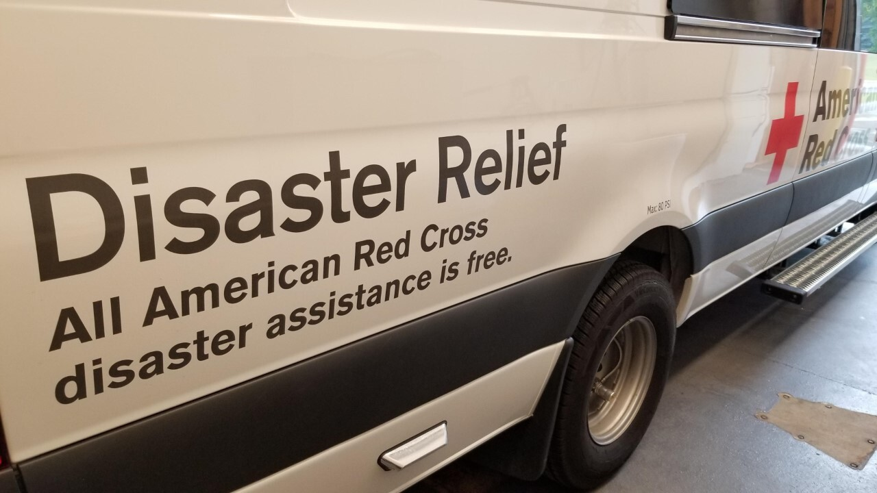 Red Cross Emergency Response Vehicle for disaster relief