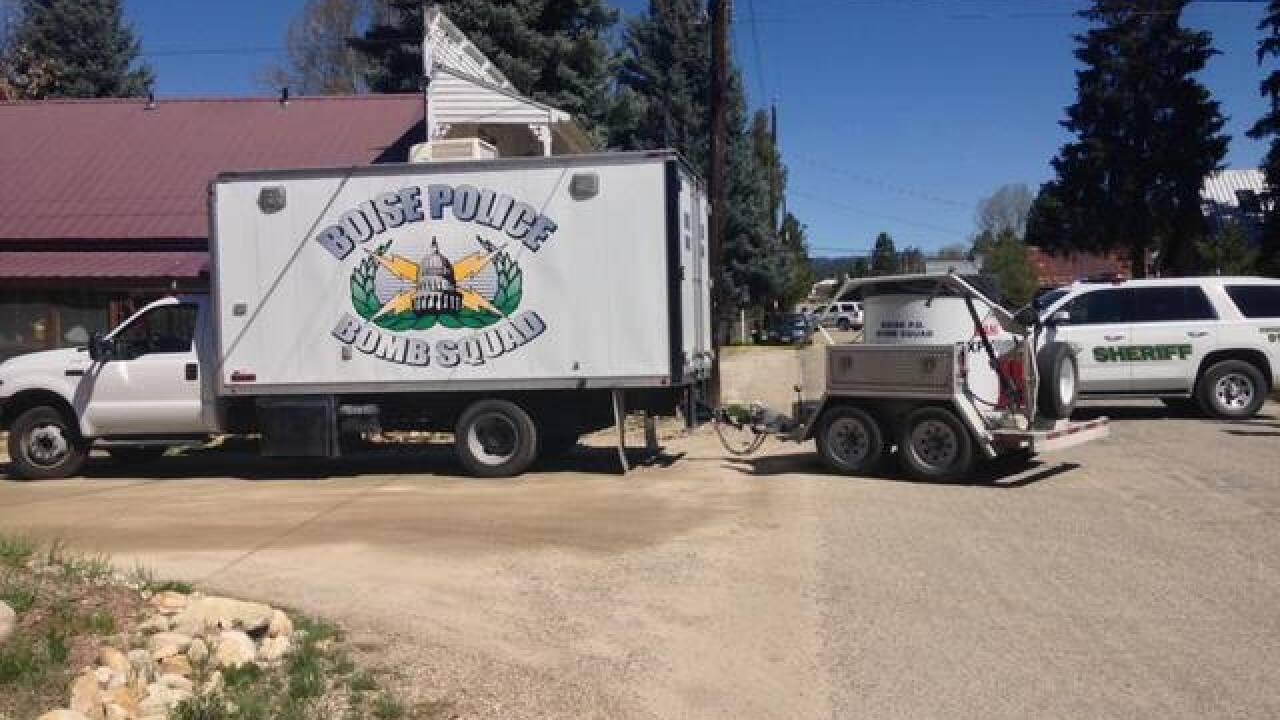 Inert grenade found at home in Idaho City