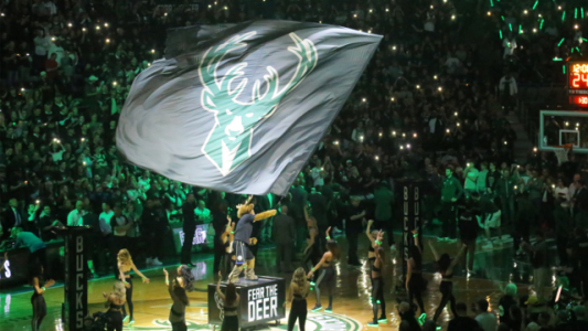 Bucks flag during playoff game