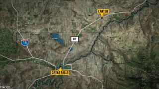 Dust storm triggers crashes between Great Falls and Carter