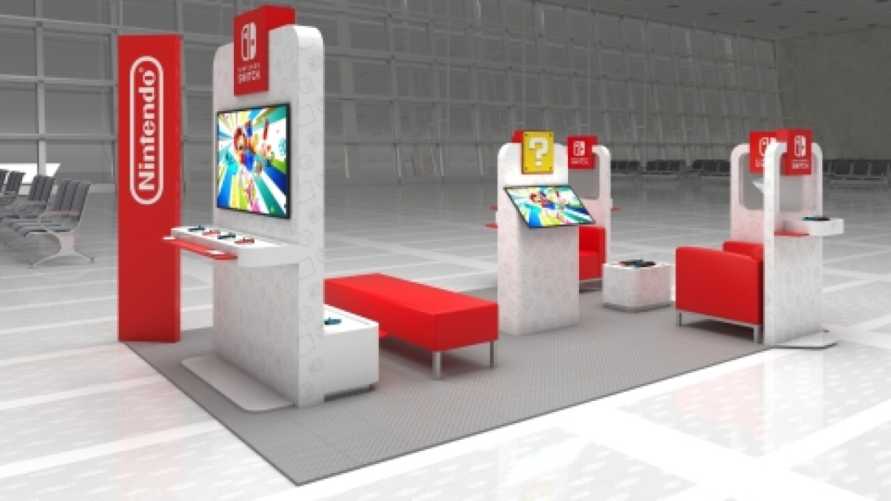 Nintendo Switch pop-up lounges coming to US airports