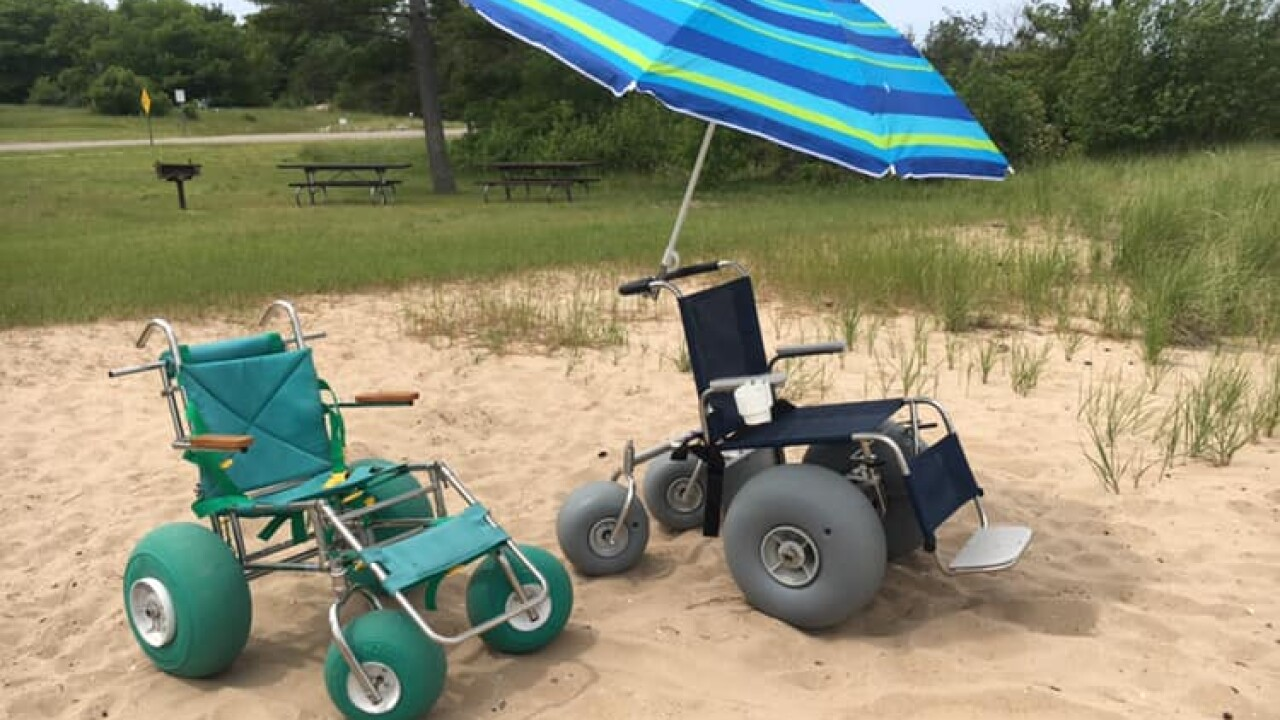 Michigan national park is the first to allow visitors to use a powerful 'track chair' to experience trails