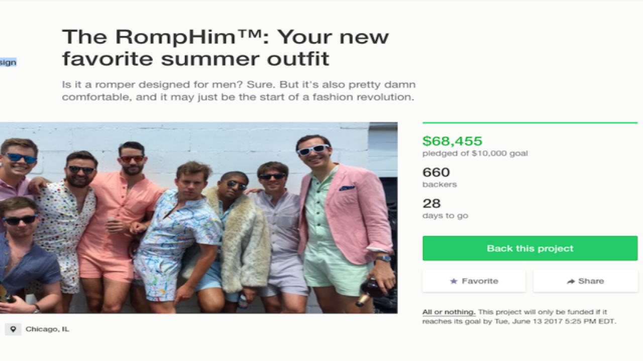 3bdc2d22c89 RompHim  Kickstarter campaign aims to make onesies fashionable for men