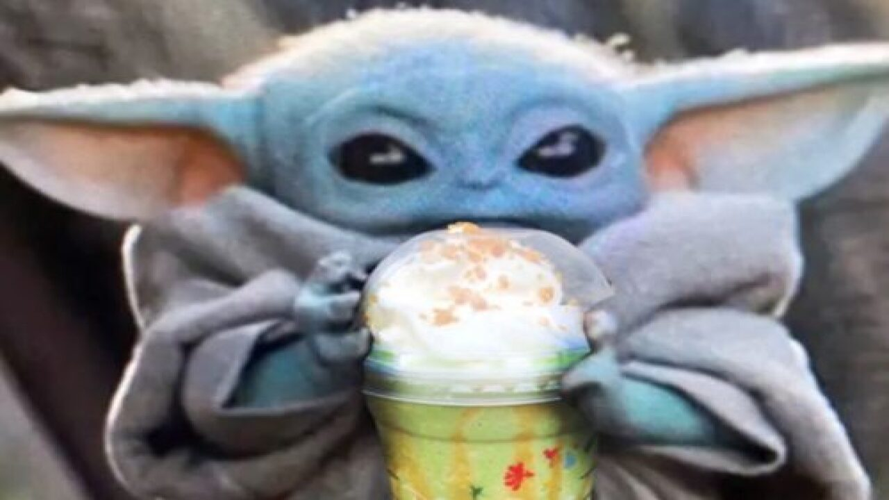 Here's How To Order A Baby Yoda Frappuccino At Starbucks