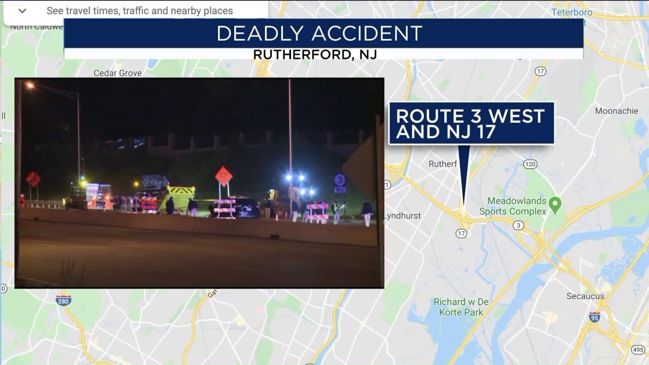 Deadly crash in Rutherford, New Jersey