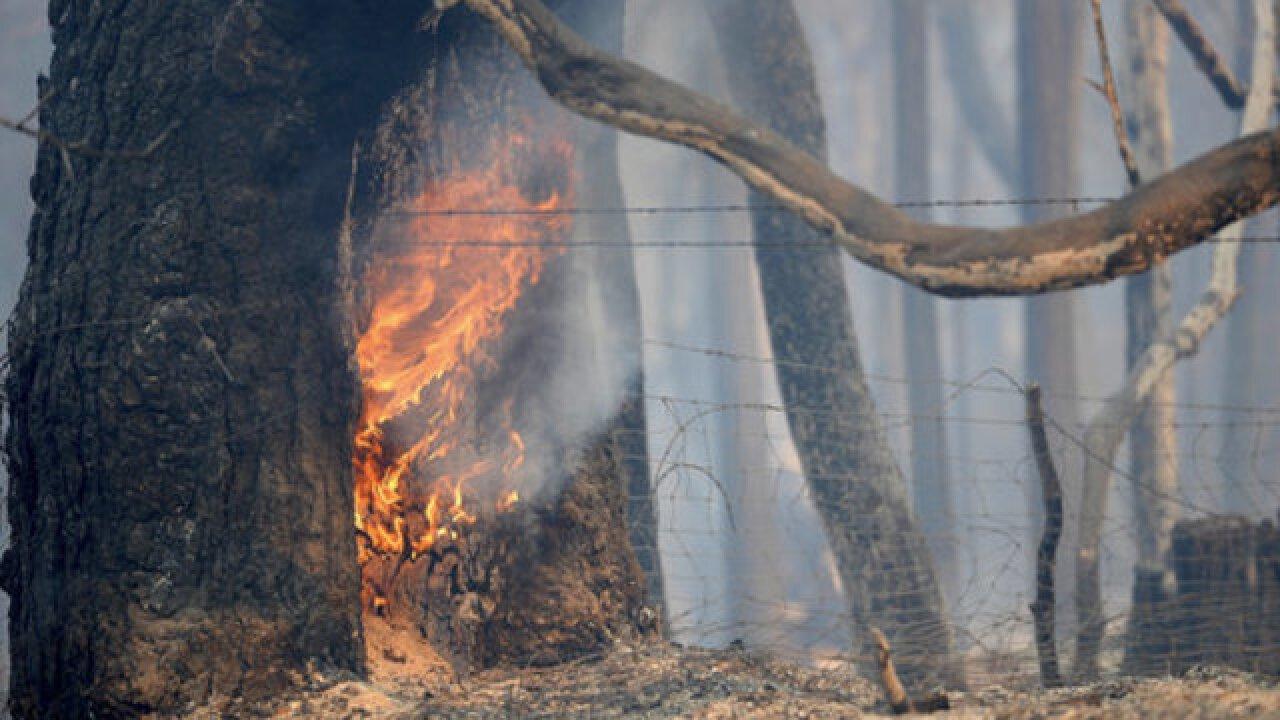 Triple-digit heat hampers wildfire efforts