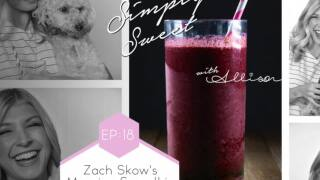 Zach Skow's morning smoothie with Simply Sweet Allison