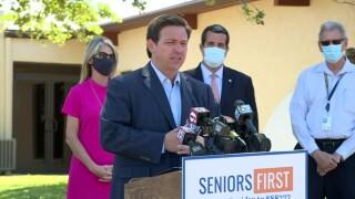 Florida Gov. Ron DeSantis announces a new COVID-19 vaccination site in Sebastian on March 12, 2021.jpg