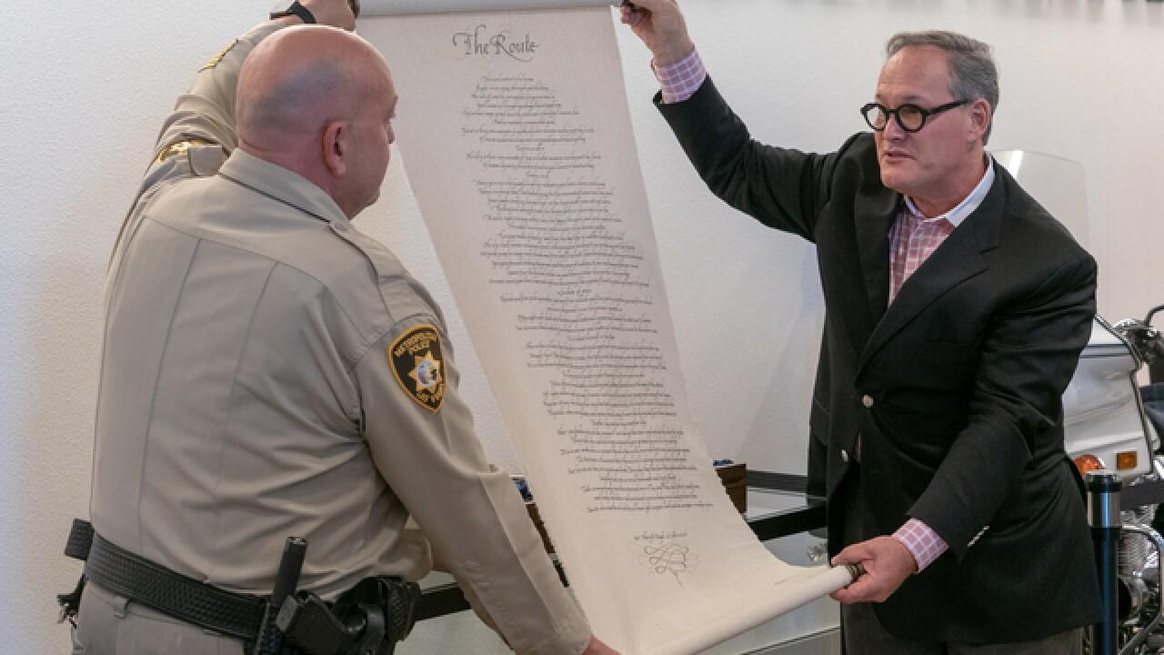 Las Vegas police captain pens 'The Route' poem