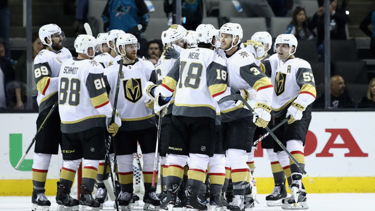 Expansion Golden Knights top Sharks to reach conference final