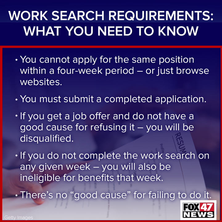 Work Search Requirement