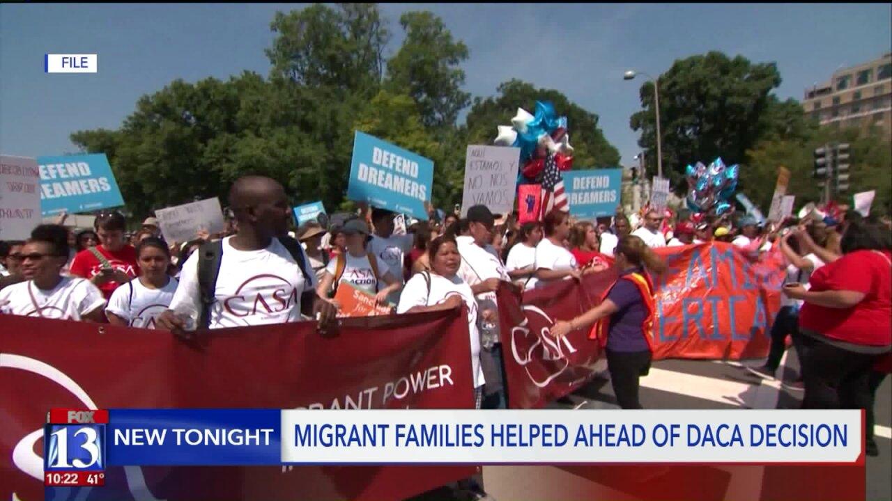 Migrant families in Utah helped ahead of DACAdecision
