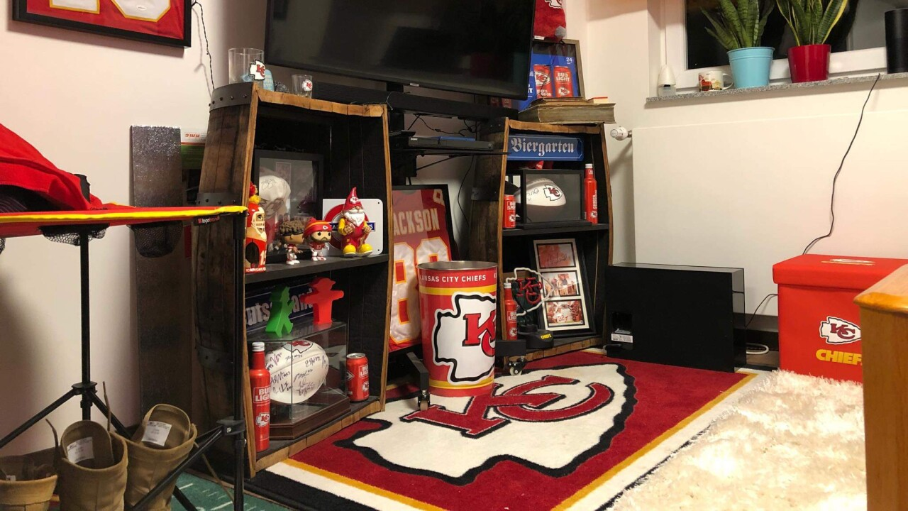 German Chiefs fan cave.JPG