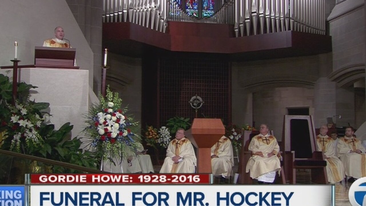 Family, friends, legends attend Howe funeral