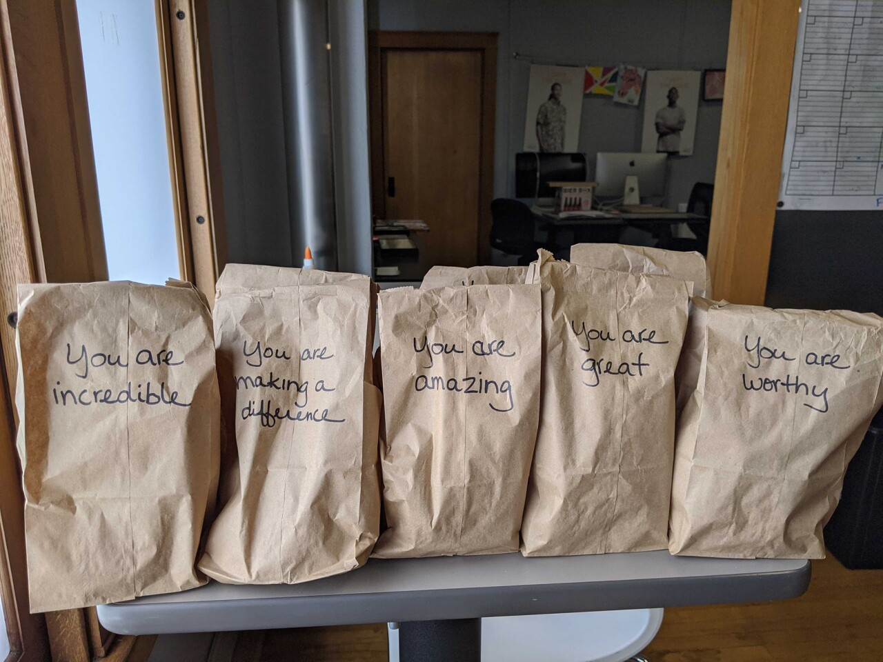 HALO Haven's brown bag lunches.