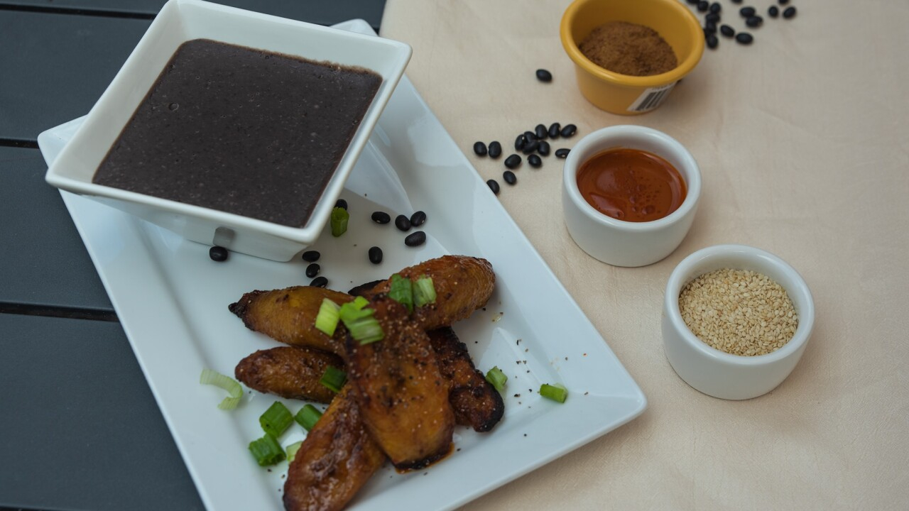 Grilled Plantains and Beans