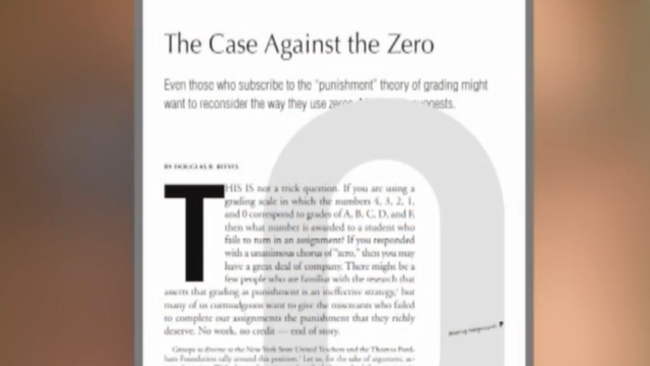 Author of 'The Case Against the Zero' talks about national attention to grading scale