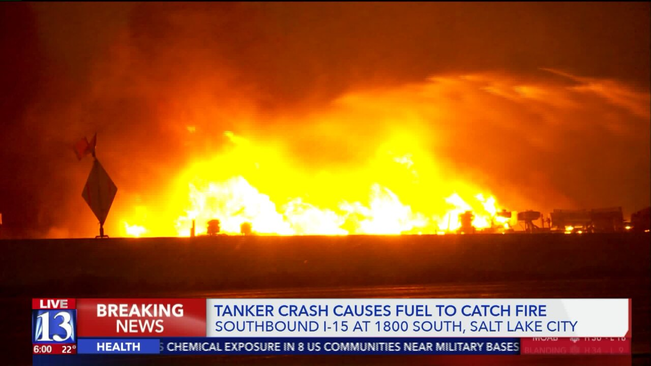 Significant repairs needed after tanker fire and explosion on I-15 in Salt LakeCity