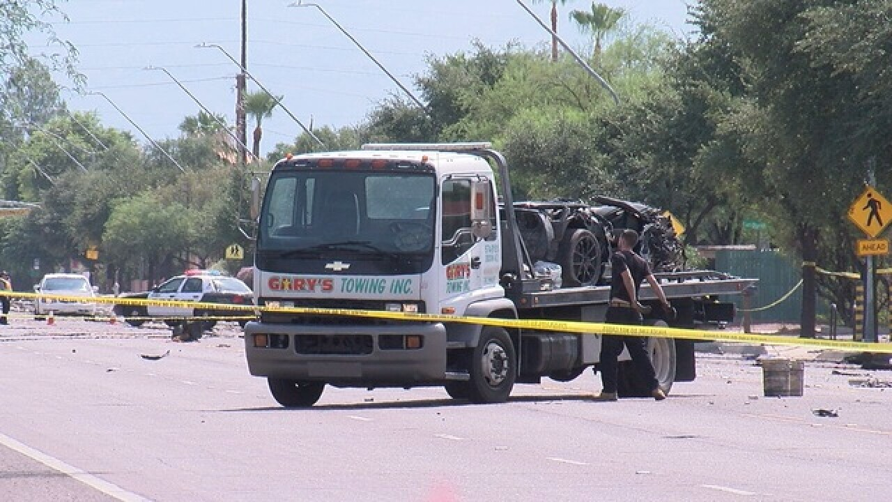 Serious crash shuts down Pima St