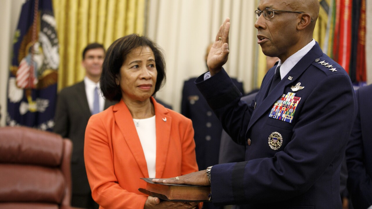 Gen. Charles Q. Brown sworn-in as first Black Air Force chief