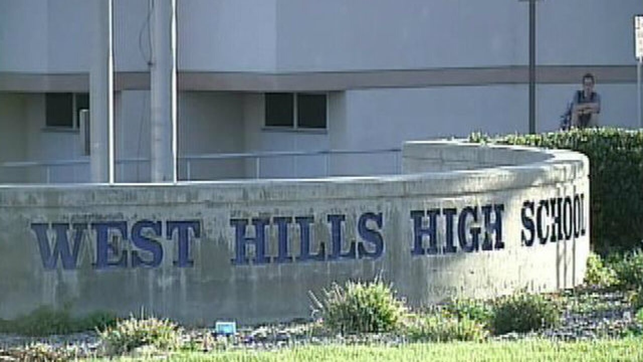 West Hills HS student accused of posting threat