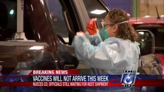 No mega vaccination drive-thru clinic this Thursday