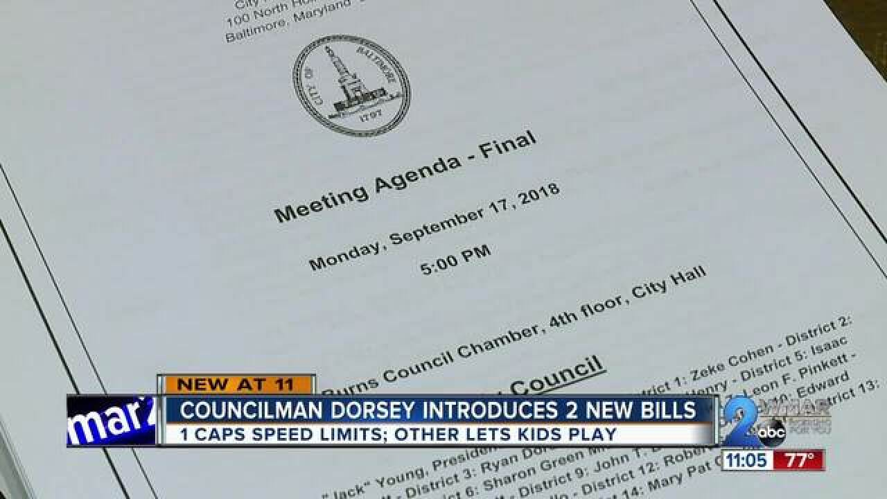 Baltimore City Council introduce two bills