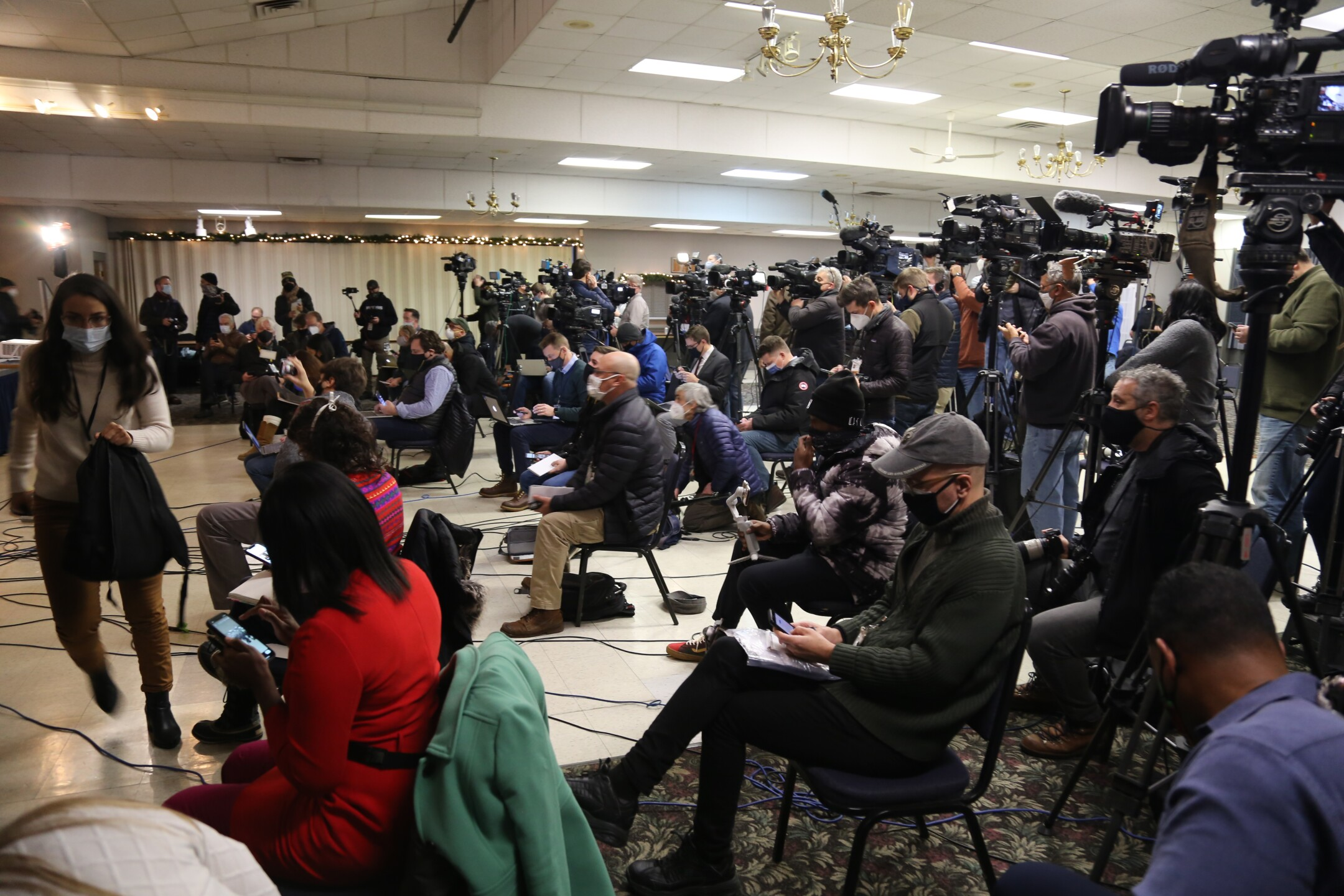 Press pool at District Attorney's press conference