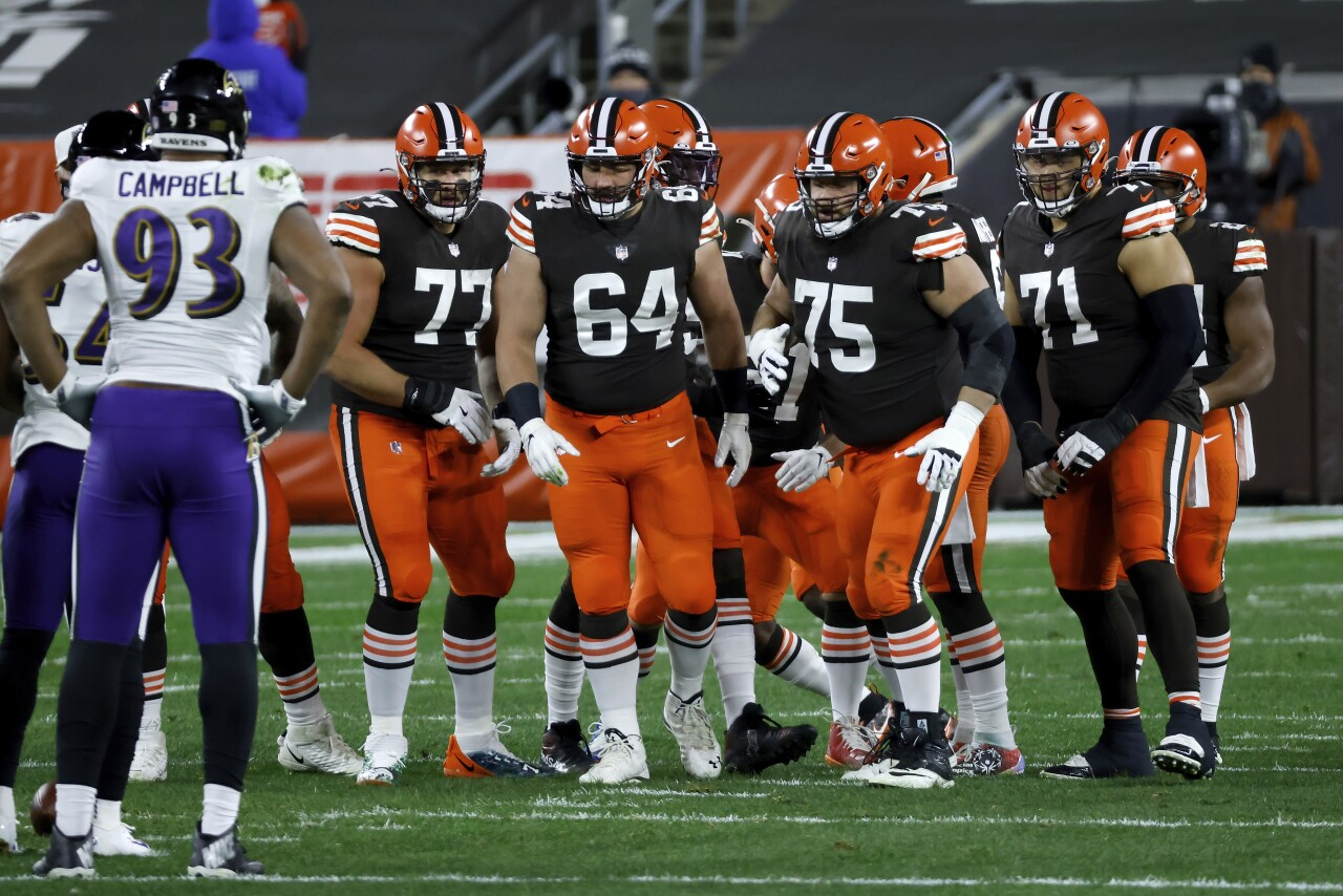 Browns offensive line