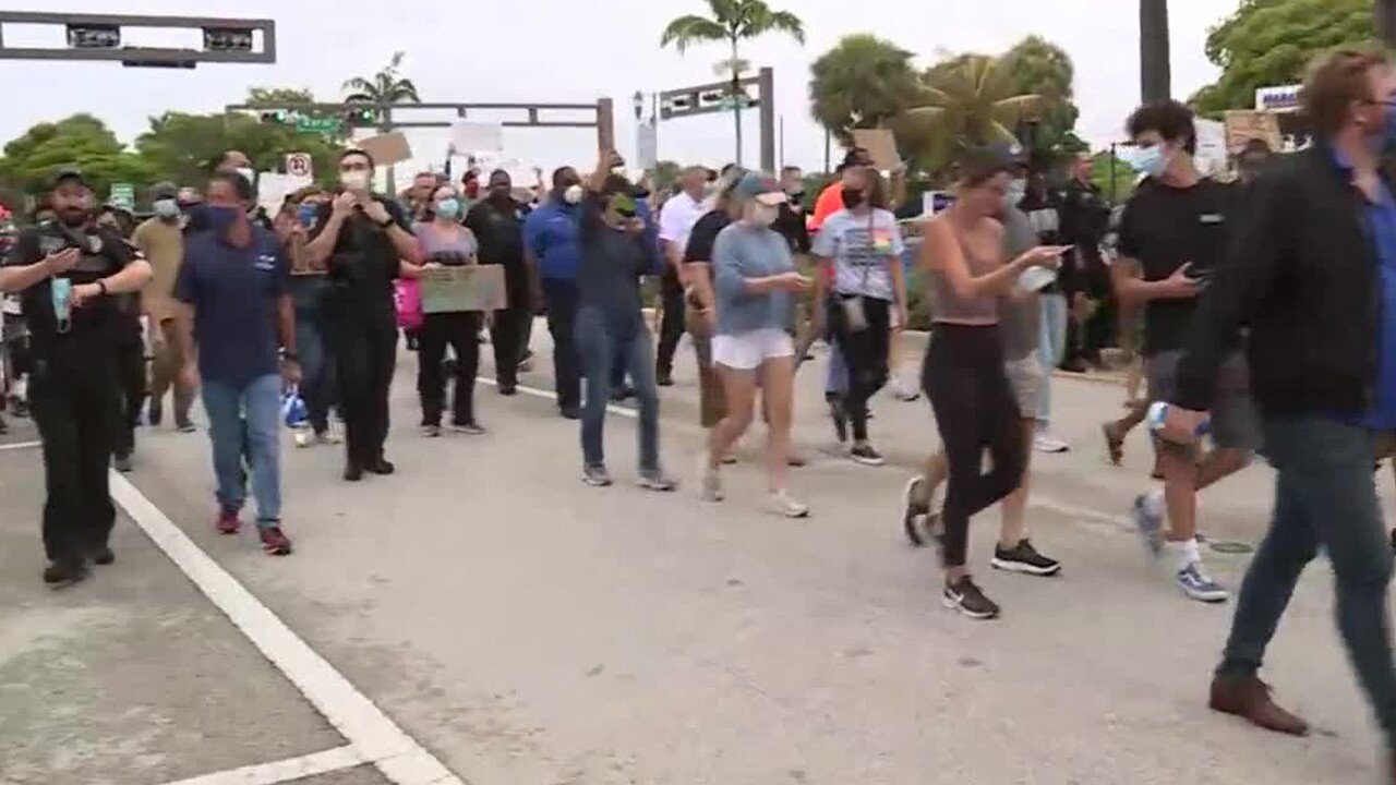Peaceful protest in Delray Beach, Fla., on June 3, 2020.