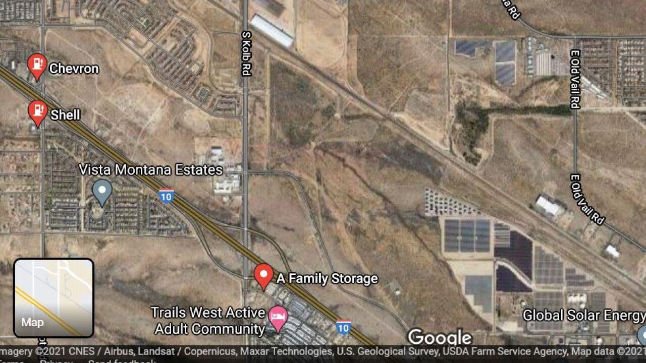 A wreck shut down westbound Interstate 10 near Kolb Road Wednesday.