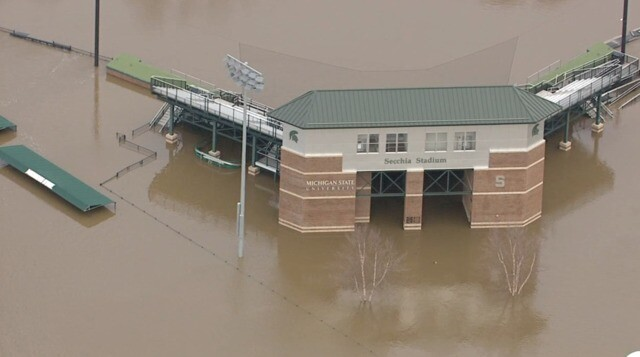 Photo gallery: Flooding on the campus of Michigan State University
