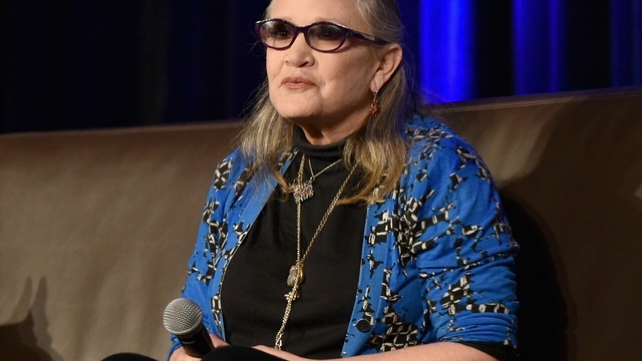 Carrie Fisher, 'Star Wars' actress, stable after in-flight cardiac incident