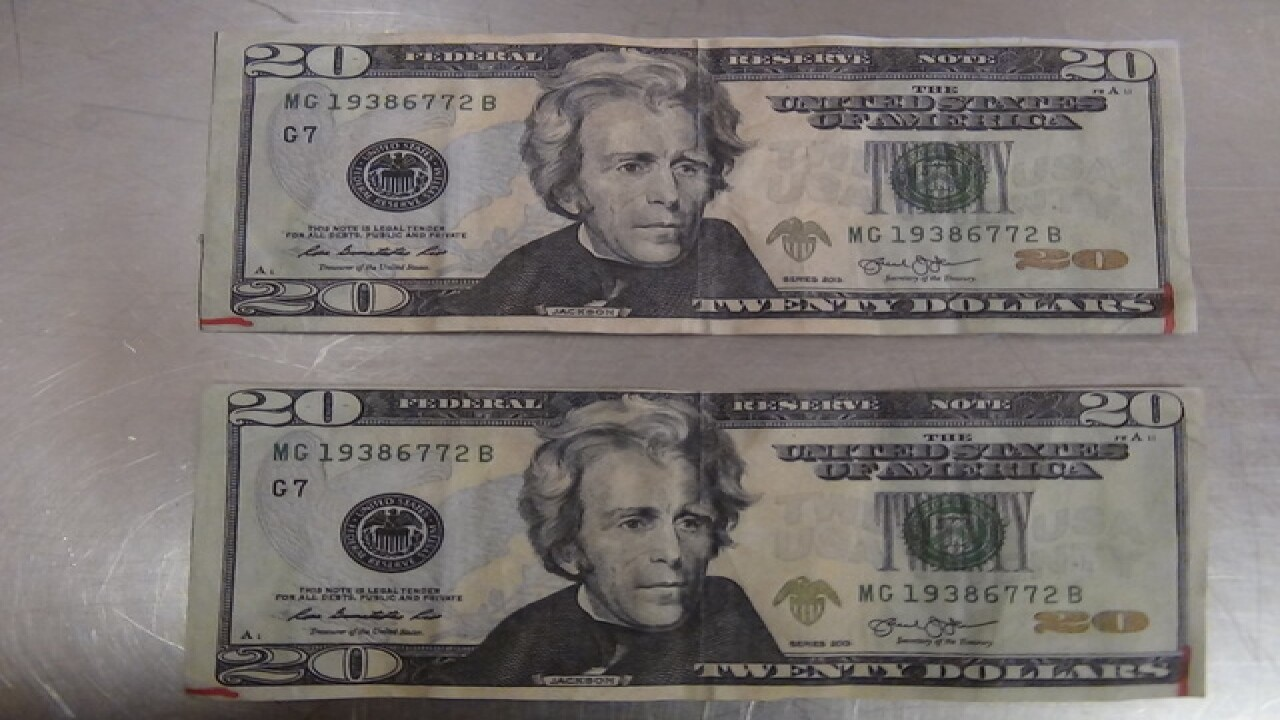 Counterfeit $20 bills showing up at yard sales