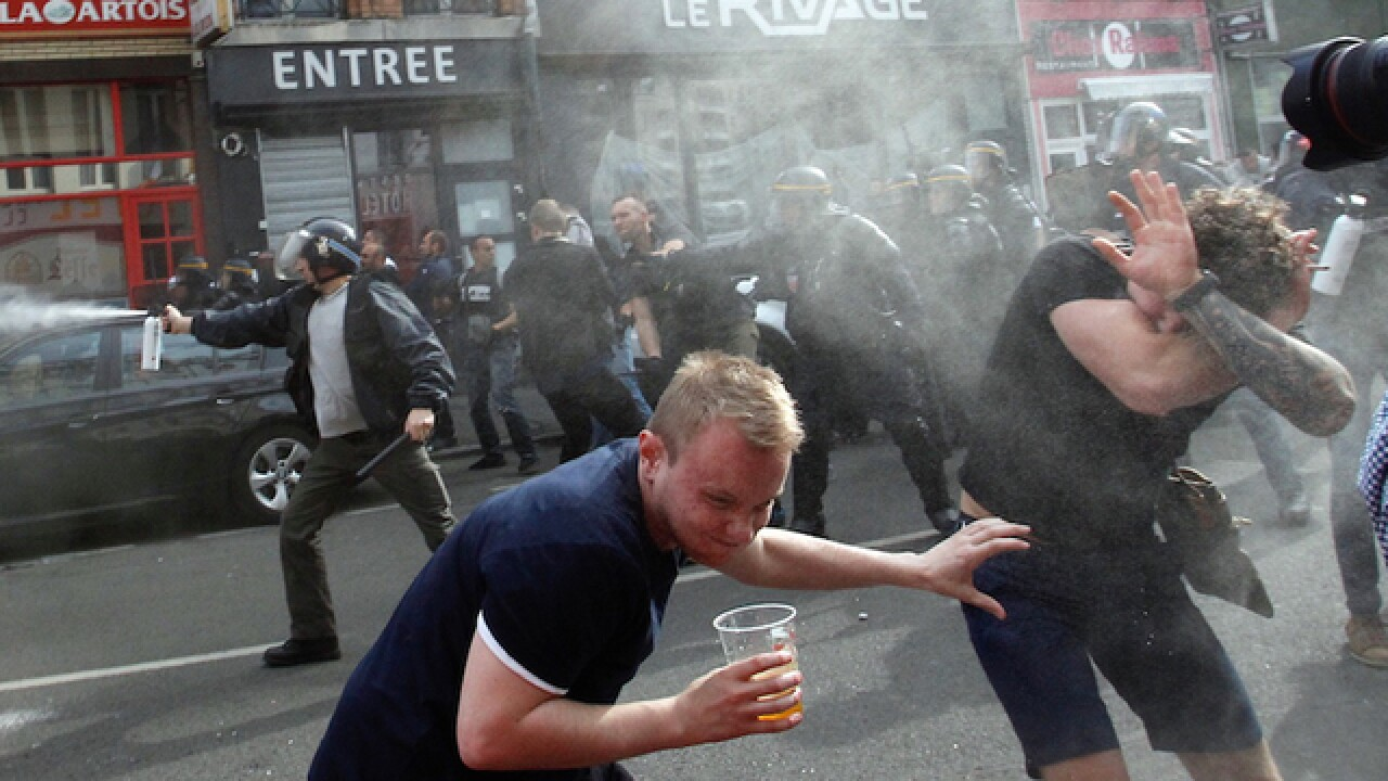 Euro 2016: Tear gas used on English soccer fans