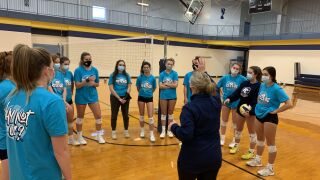 Portage Central volleyball practice
