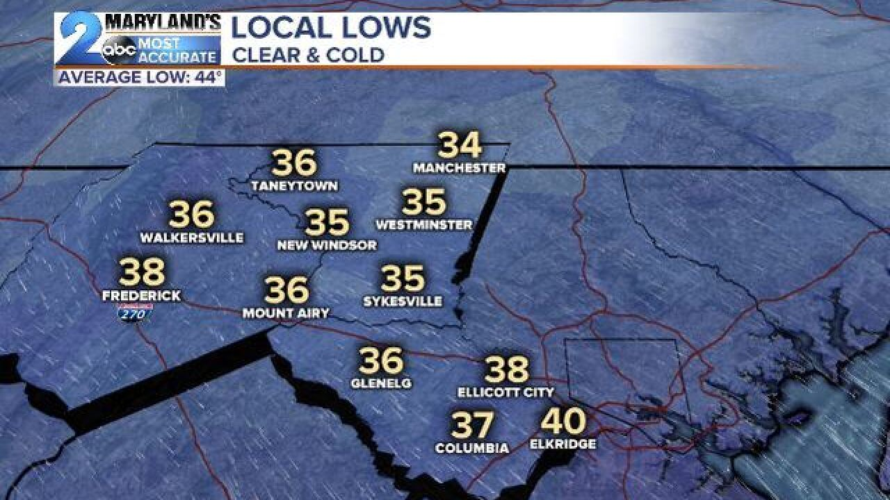 FREEZE WATCH: Another Cold Night Ahead