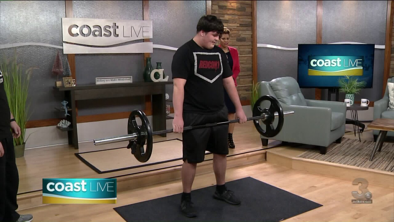 A fifteen-year-old powerlifter gets ready to compete nationally on CoastLive