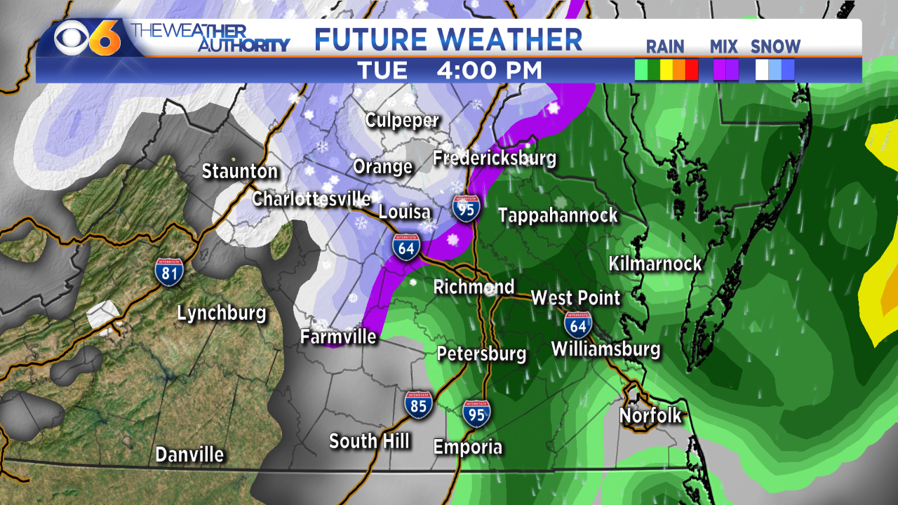 Photos: Quick-moving system could bring a little snow to parts of Virginia